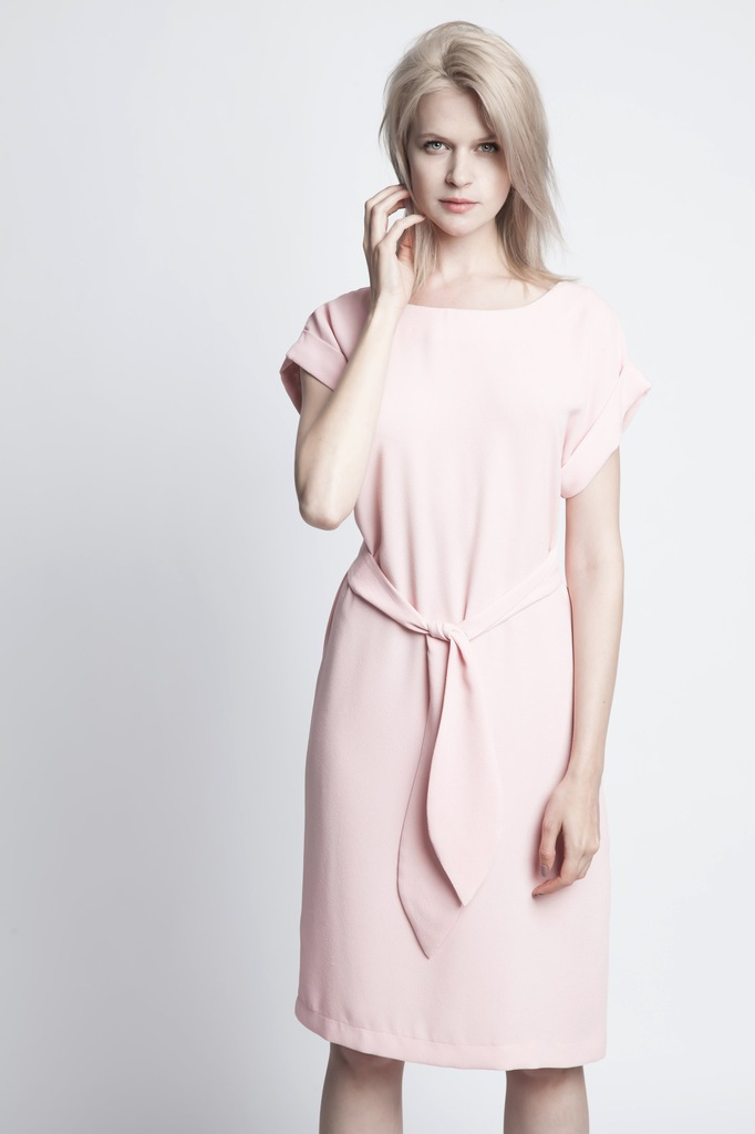 Sukienka ECHO VIGA 2-15840-116098-110230 jasny różowy M