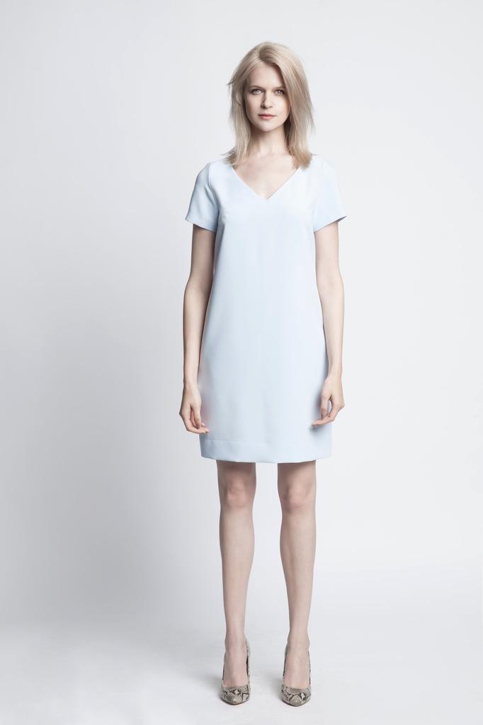 Sukienka ECHO AVIS 2-15309-116065-170230 niebieski M