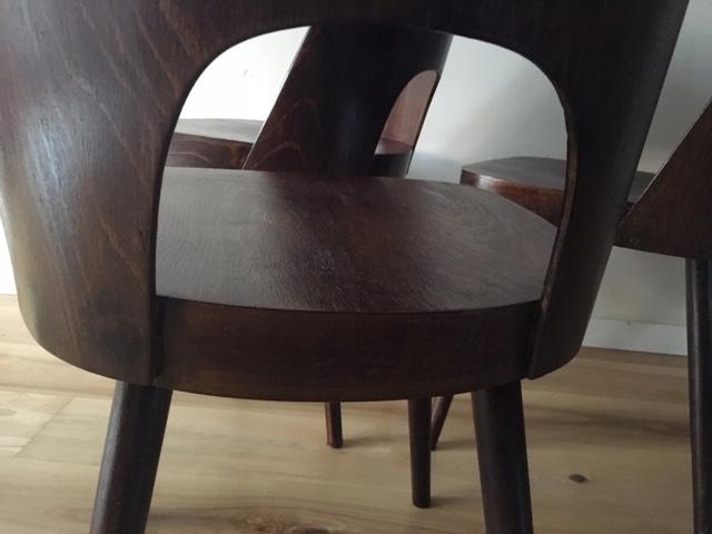 4 czeskie krzesła projekt z lat 50 Haerdtl 7670181616