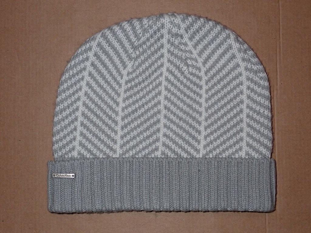 CALVIN KLEIN - czapka - szary, biały
