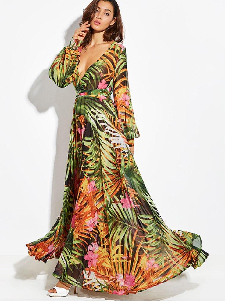 Sukienka Plazowa Wzory Zwiewna Dluga Maxi Italy Xl 7201295143 Oficjalne Archiwum Allegro