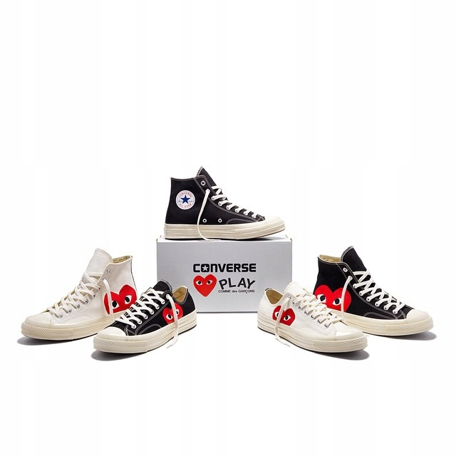 42 CONVERSE CDG Play Chuck Taylor All S LOW BLACK