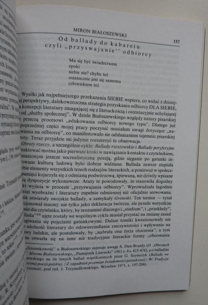 Pisanie Białoszewskiego Szkice Red Głowiński Ibl