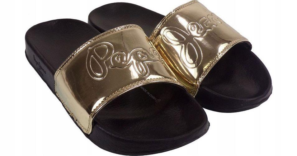 Klapki PEPE JEANS Flap Shine PLS70037 Gold 099