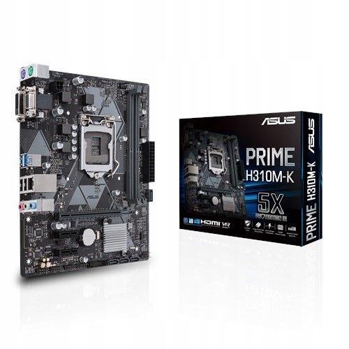 Asus PRIME H310M-K Motherboard CPU i3 i5 i7 LGA1151 Intel DDR4 DVI VGA USB 3.1