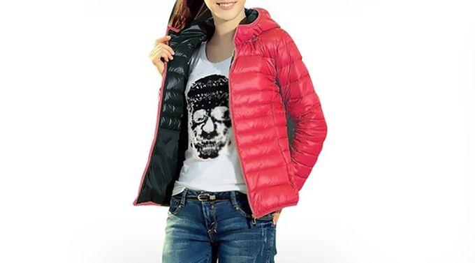 Kurtka damska wiosenna pikowana czerwona w Odzież wierzchnia