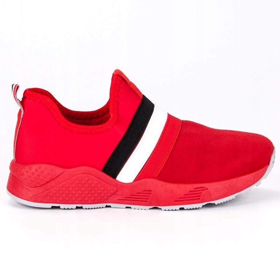 Wsuwane czerwone buty sportowe r.37
