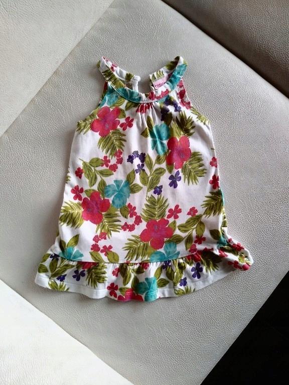 CHEROKEE tunika sukienka mini 98 kwiaty egzotyczne