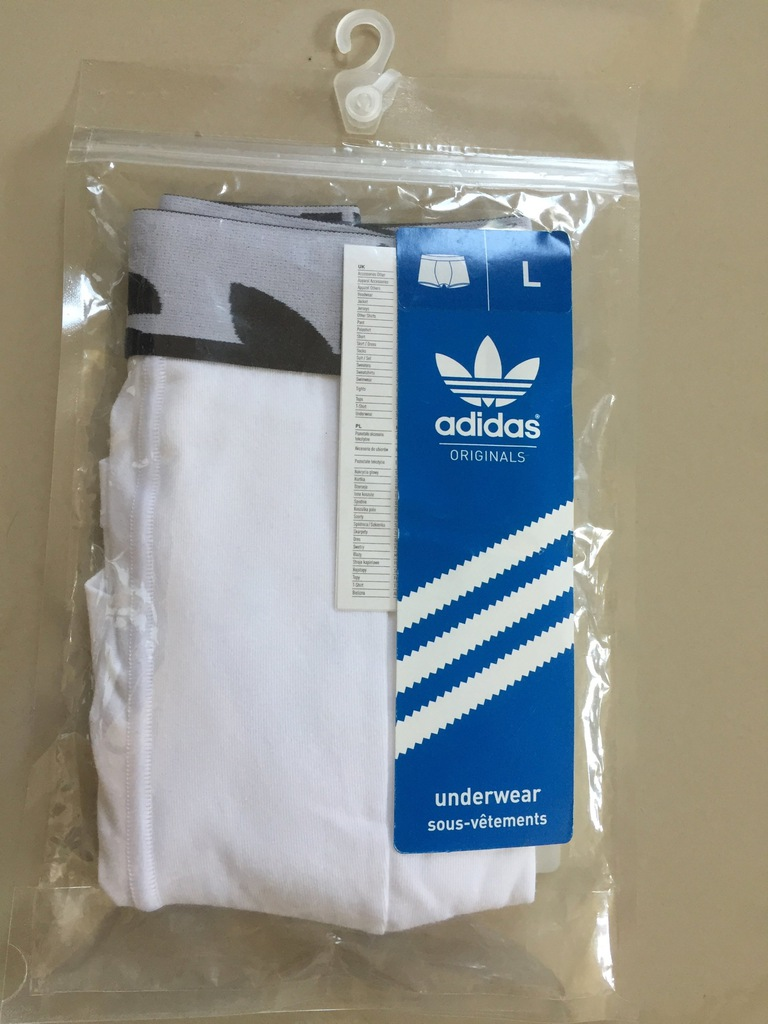 Bokserki białe adidas ORIGINALS KNIT BOXER 1P B