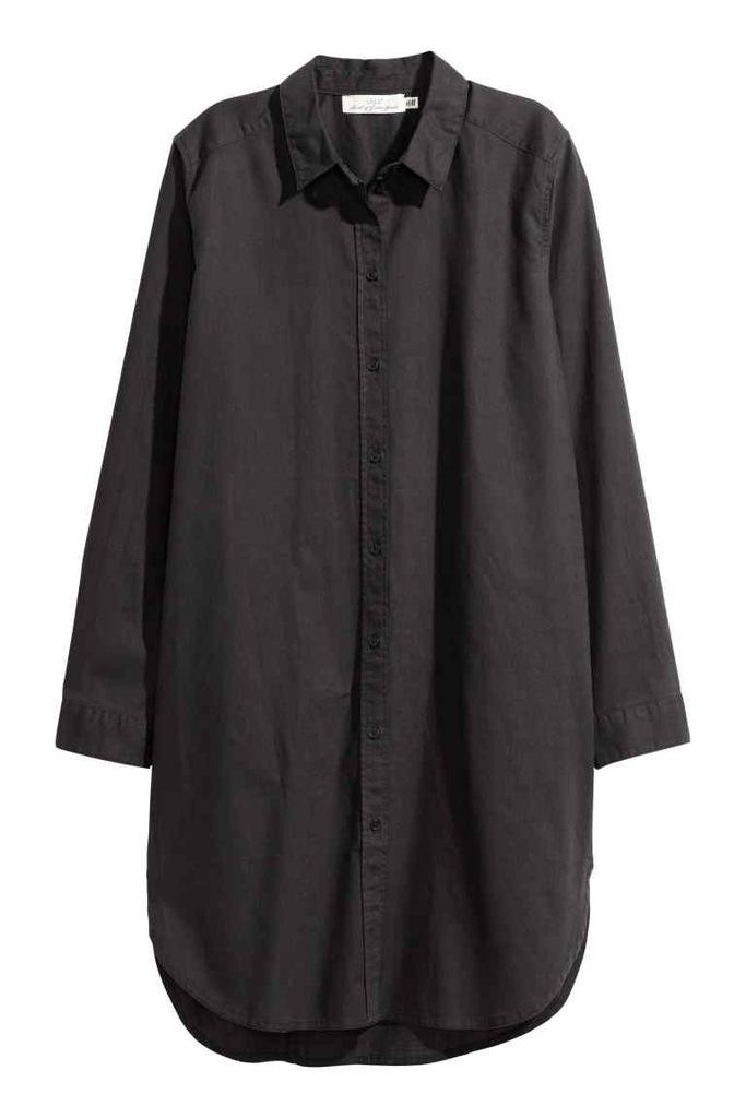 H&M Długa koszula z lnem rozm. 38 M 7078247108 oficjalne  lrnmo