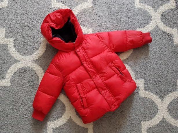 ZARA kurtka chłopięca zimowa czerwona