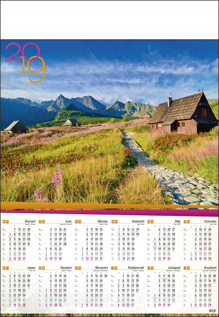 Kalendarz Plakatowy B1 Krajobraz Widoki Gory B1 07 7644844735 Oficjalne Archiwum Allegro