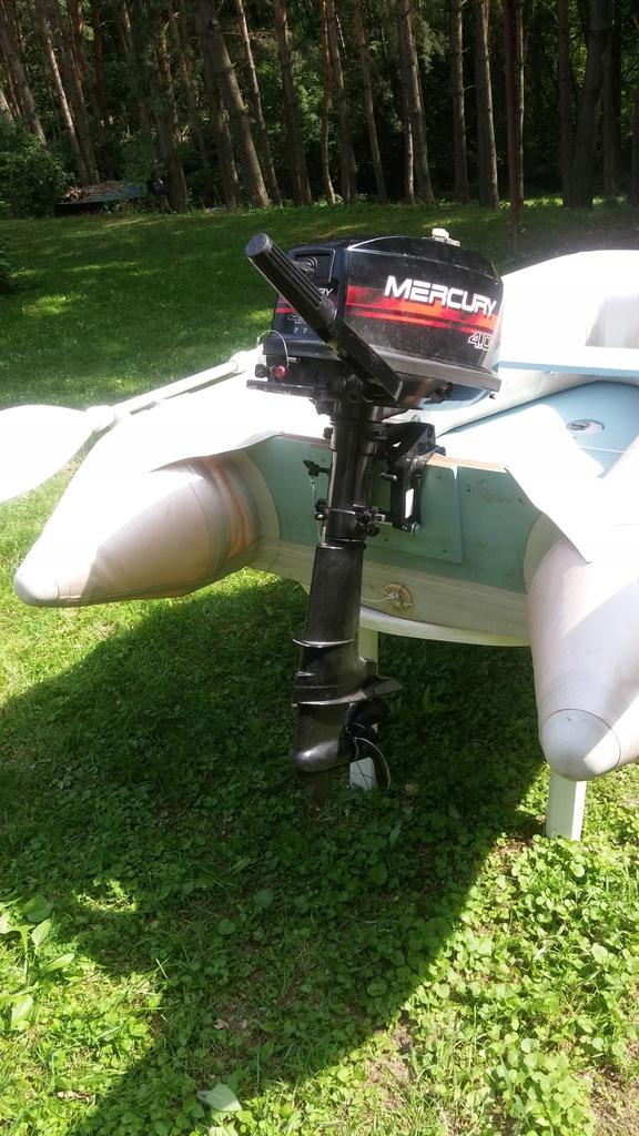 Ponton Quick Silver 230 z silnikiem Mercury 4 KM