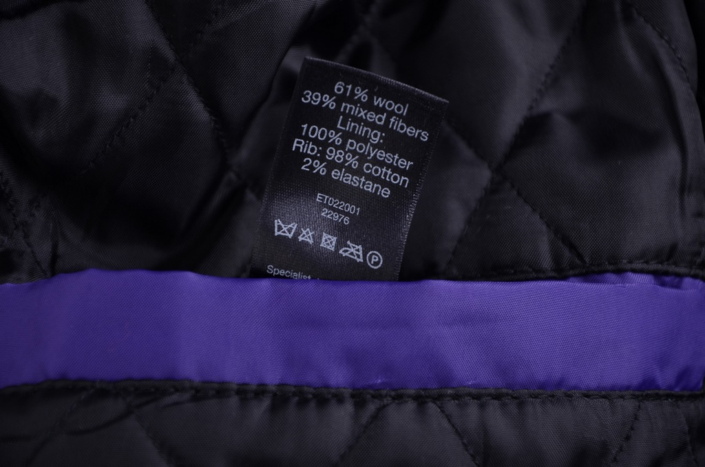 F&F ocieplana dwurzędowa kurtka grafit M