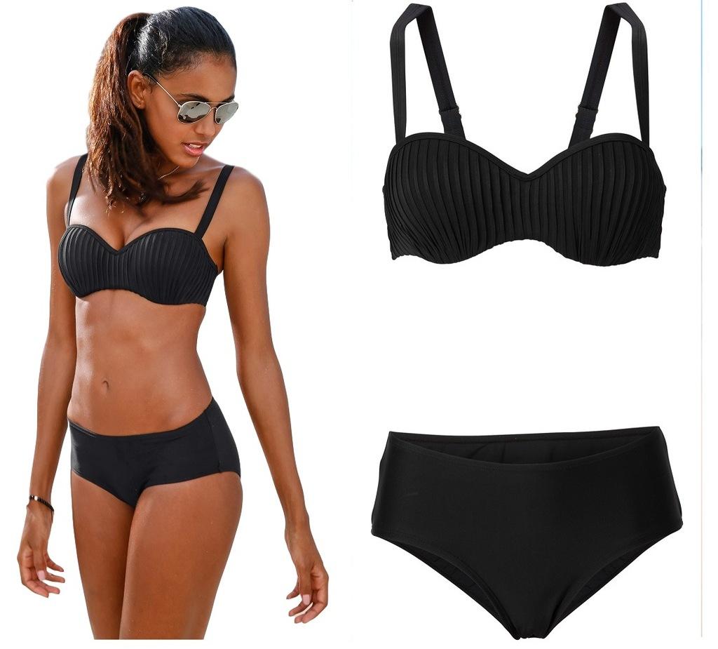 Czarny Stroj Kapielowy Usztywniany Bikini 44 85 D 6825731235 Oficjalne Archiwum Allegro