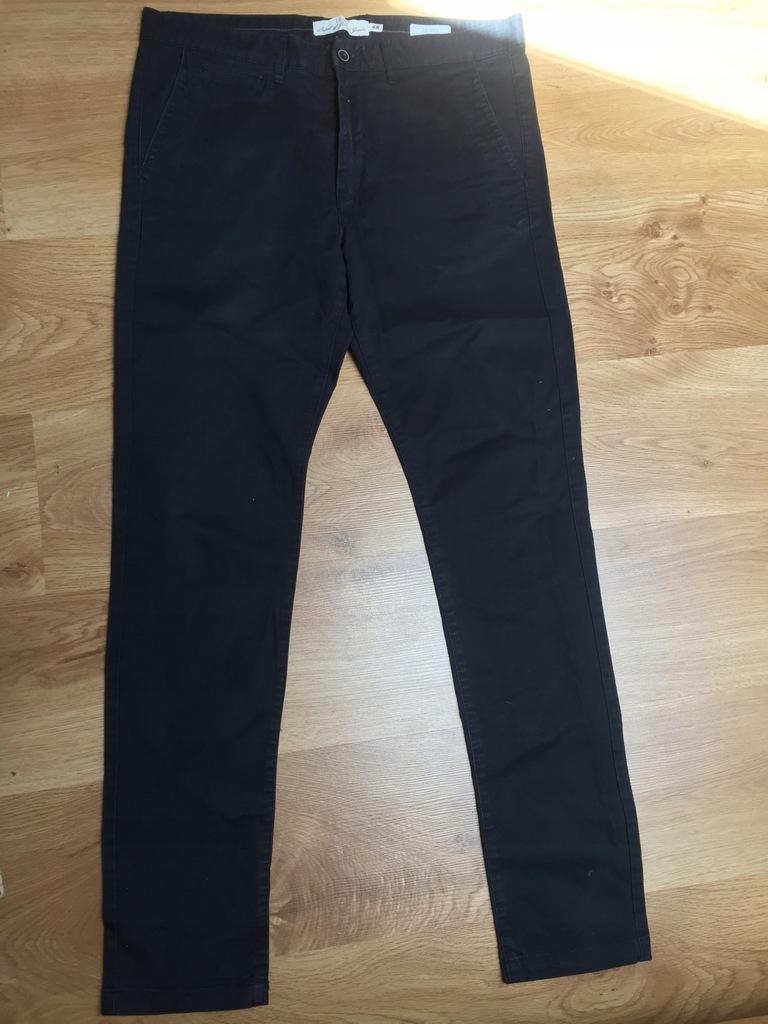 Spodnie męskie czarne H&M skinny fit roz. 34