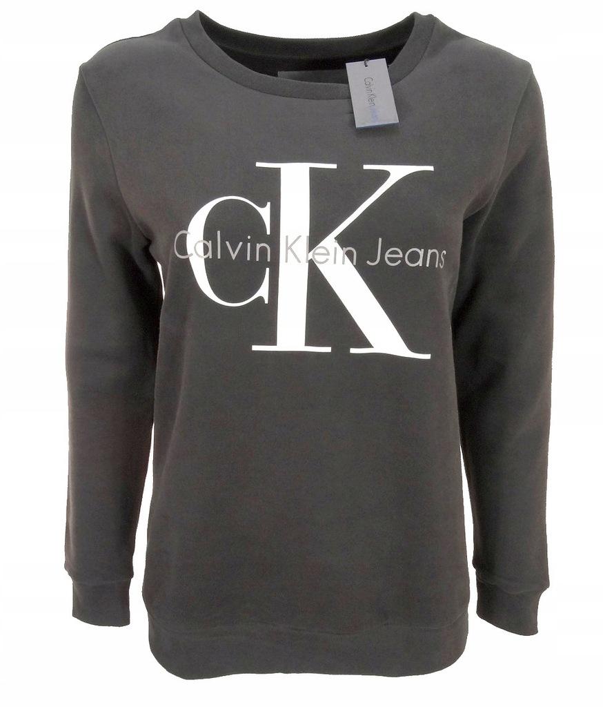 Calvin Klein Jeans Bluza Damska Grafitowa M 7688385848 Oficjalne Archiwum Allegro