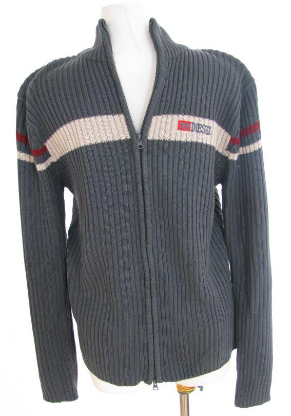 Diesel - efektowny ciepły męski sweter XL