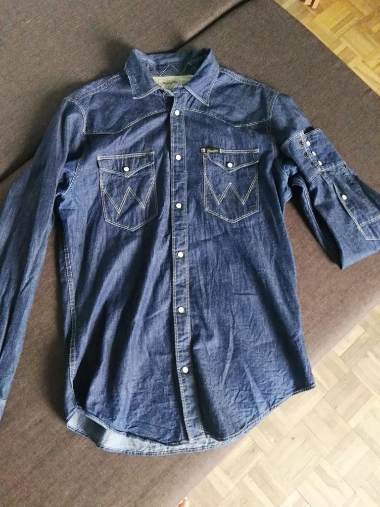 Koszula jeans dżinsowa WRANGLER slim fit lee levis
