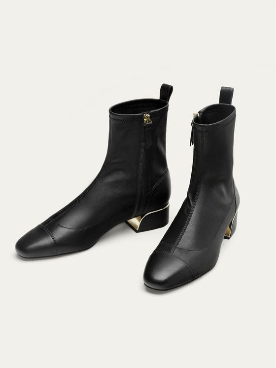Massimo Dutti super lux czarne botki 36 jak 37 7582332973