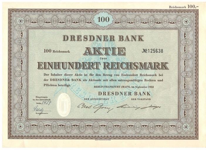 akcje DRESDNER BANK
