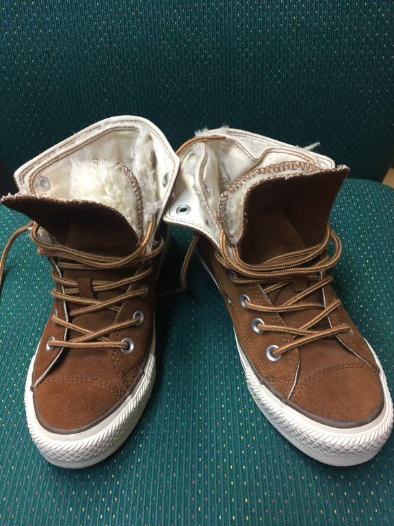 Converse ocieplane trampki buty zamszowe do kostki