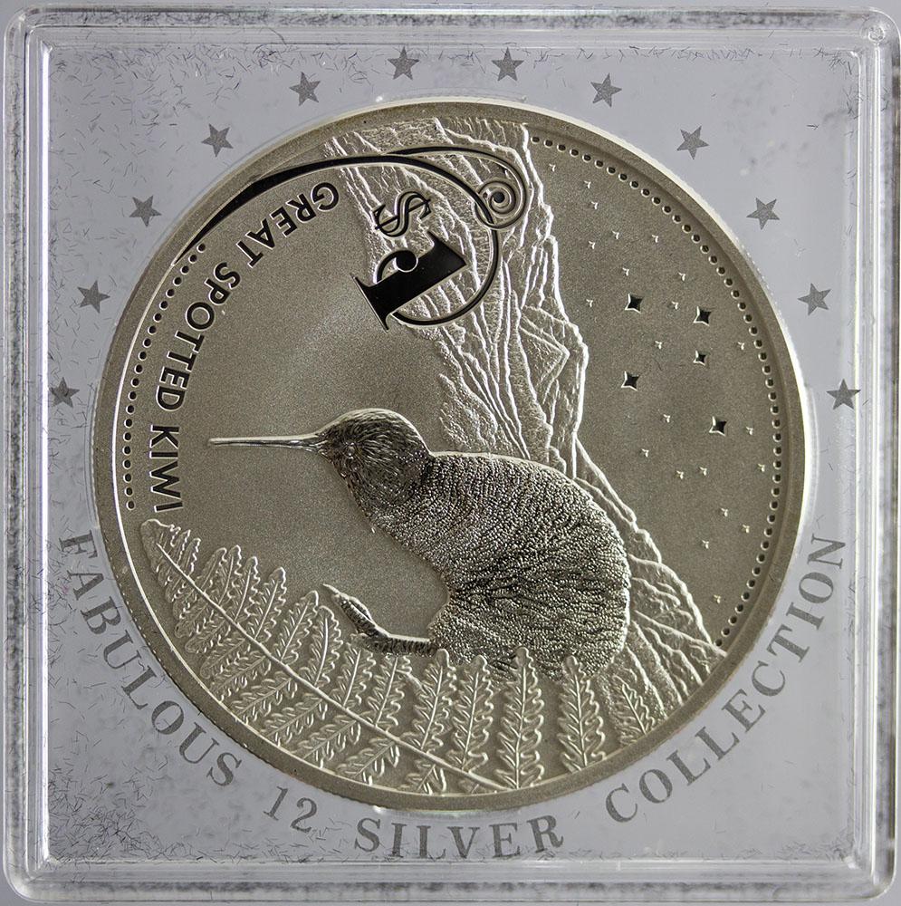 Nowa Zelandia 1 Dolar 2007 - Kiwi - Fabulous 12