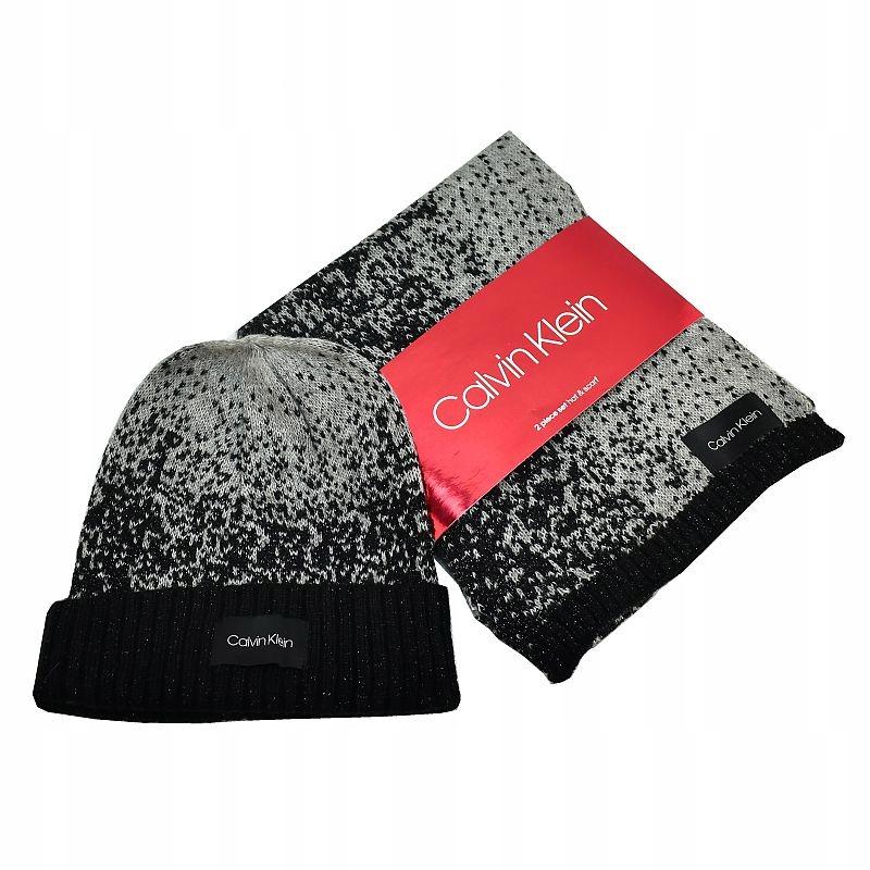 Czapka Szalik Rękawiczki Calvin Klein z USA