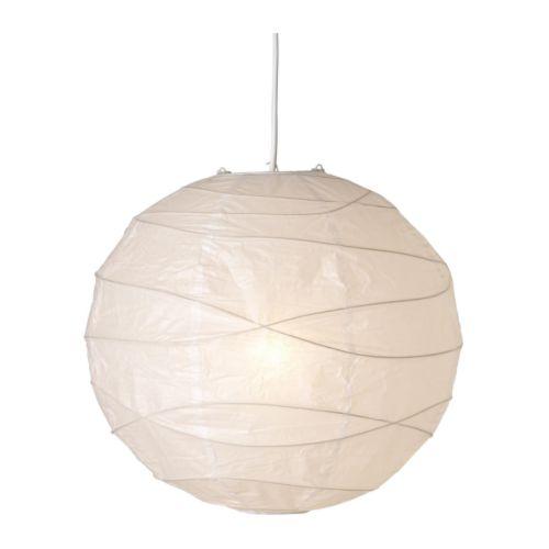 Lampa loft wisząca żyrandol biały papier papierowa