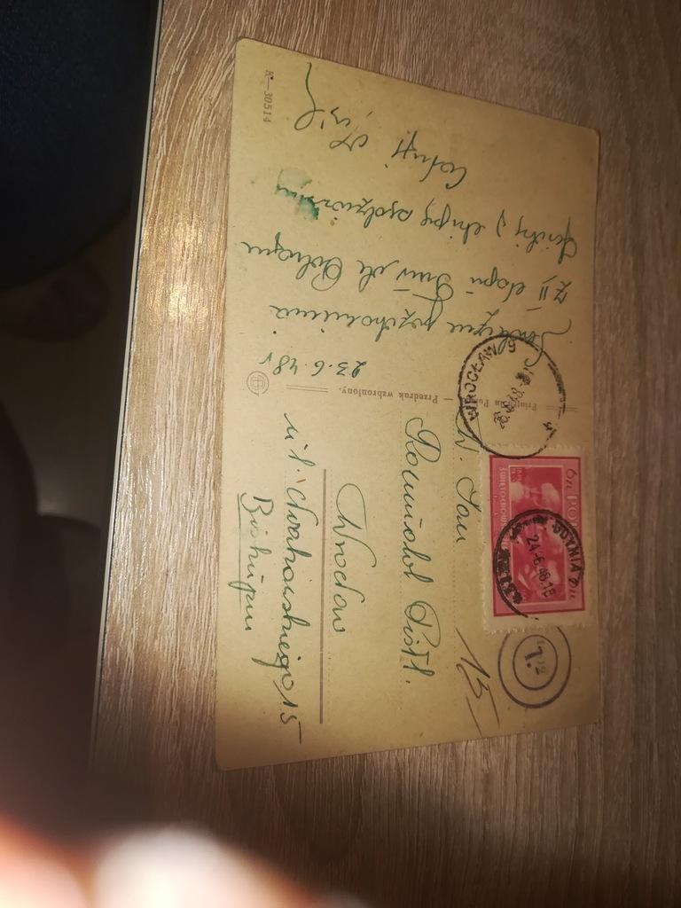 Pocztówka pozdrowienia z 2 etapu TUR dePOLOGNE1948