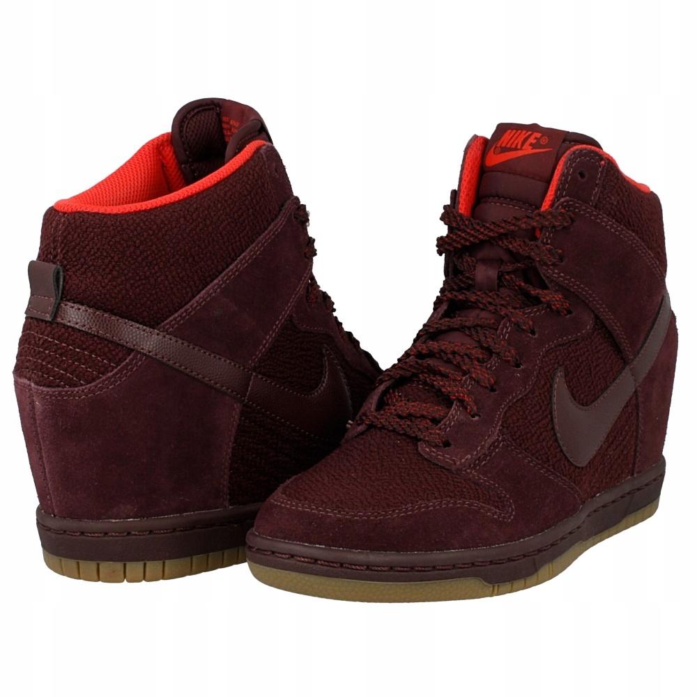 Nike Wmns Dunk Sky Hi Essential 644877 601   Wiśniowy