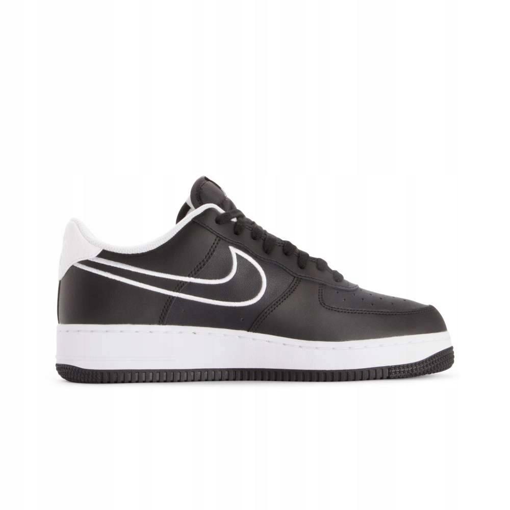 Nike Air Force 1 07 czarno białe skóra rozm 44
