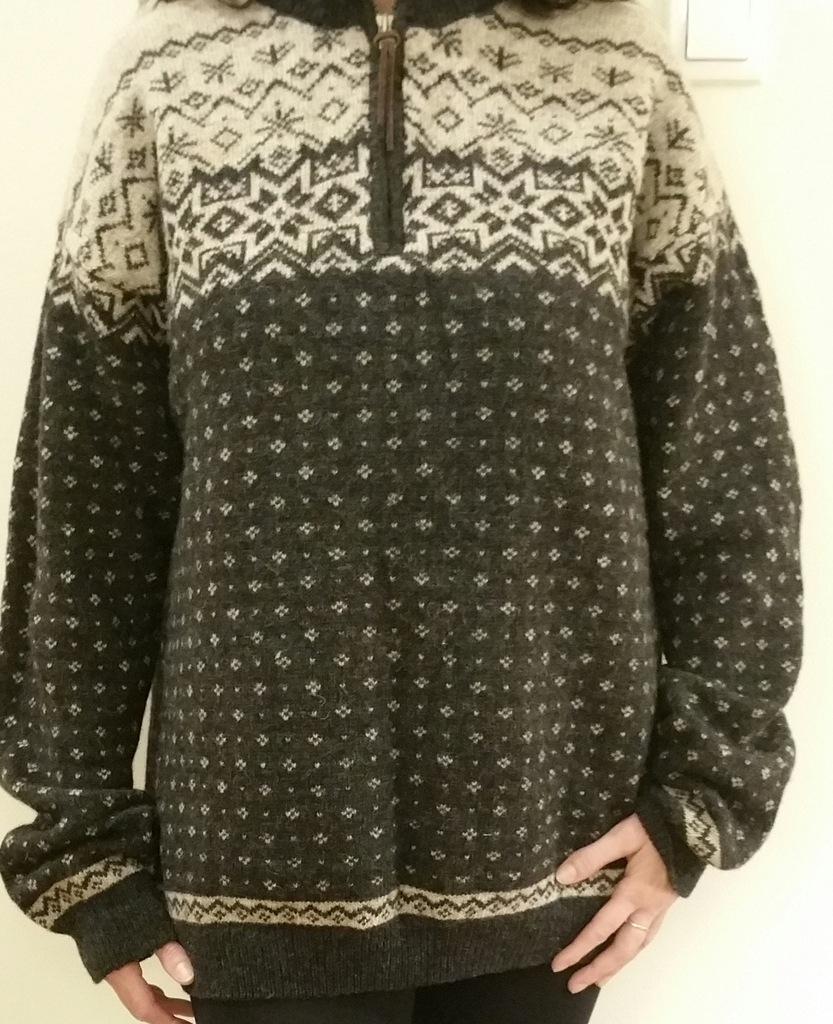 Sweter męski 100% wełna - Cottonfield - XXL