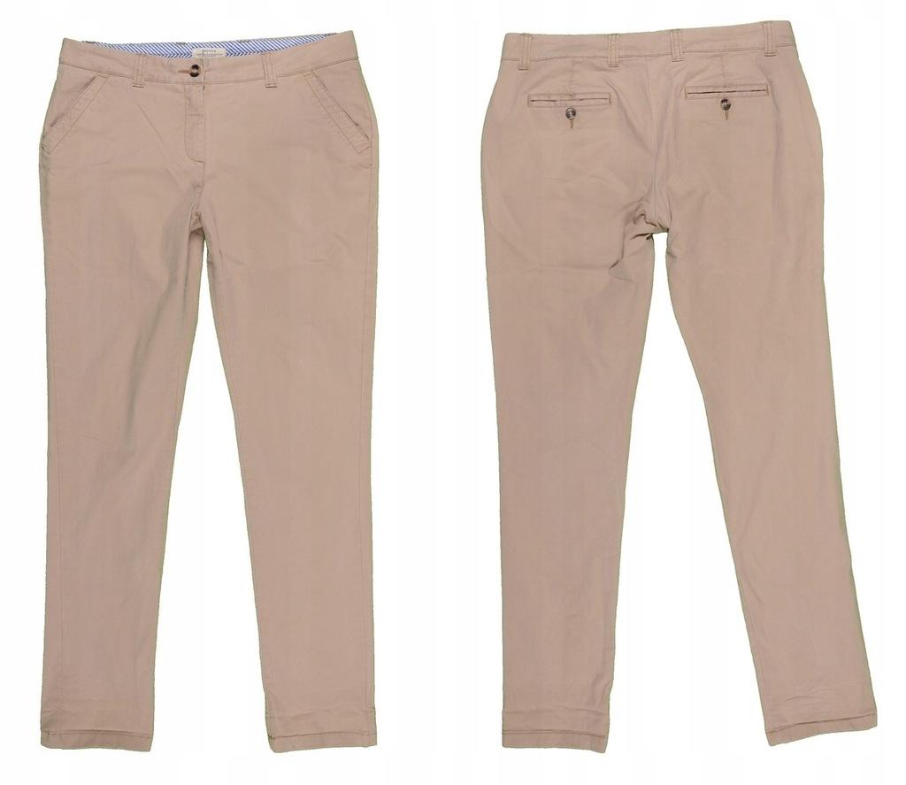 PAPAYA piaskowe spodnie chinosy bawełna 40 MISIZM