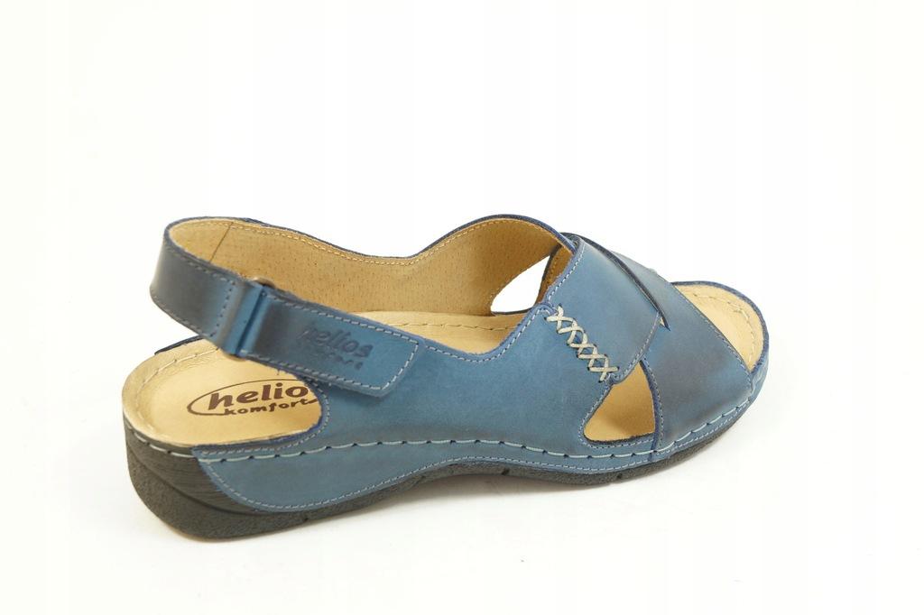 HELIOS 229 1 Sandały Granatowe R.37 Obuwie PL