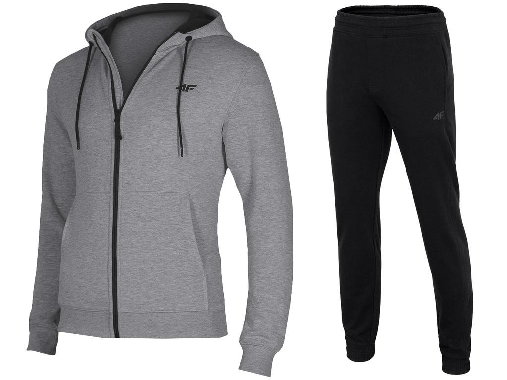 4F Dresy Męskie Komplet Bluza Spodnie L18 M