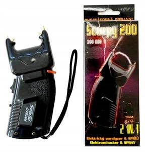 Paralizator z gazem pieprzowym Scorpy 200 2w1 +gaz