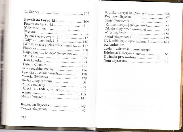 Do Zakochanych K I Gałczyński 1996 Wiersze 7463973109