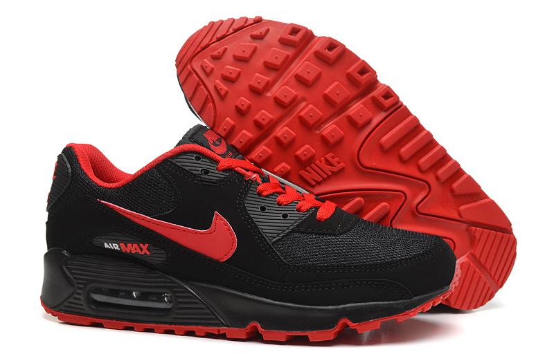Buty Nike Air Max 90 czarno czerwone + skarpety Nike gratis