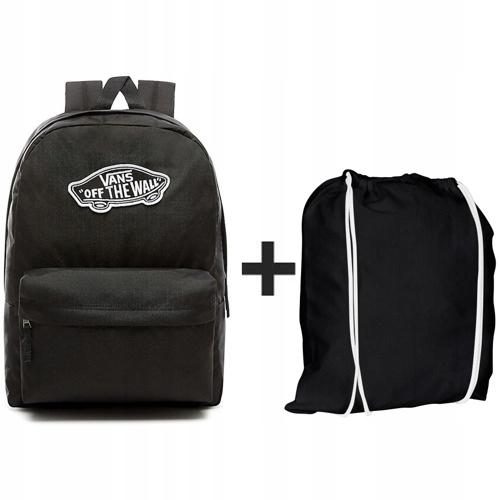 Plecak VANS Realm+ Worek czarny z białym sznurkiem