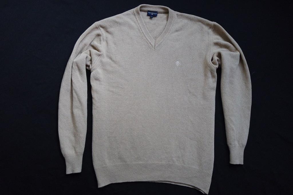 COTTONFIELD sweter sweterek WEŁNA ITALY logo____XL