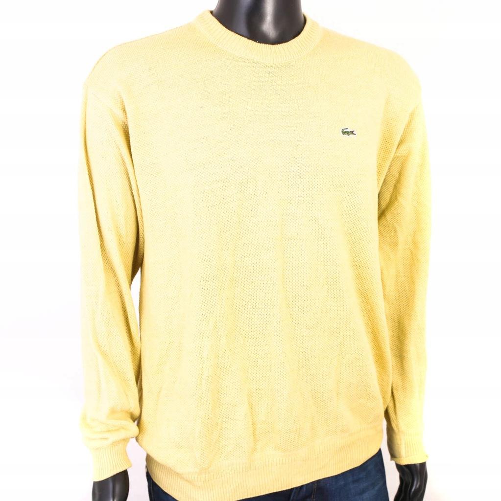 *W Lacoste Sweter Męski Bawełna Żółty roz XL