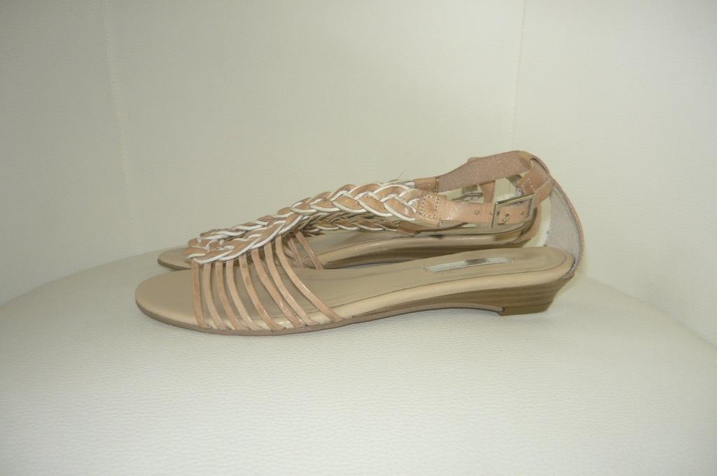 NEXT sandały skóra roz 37 szczupłe