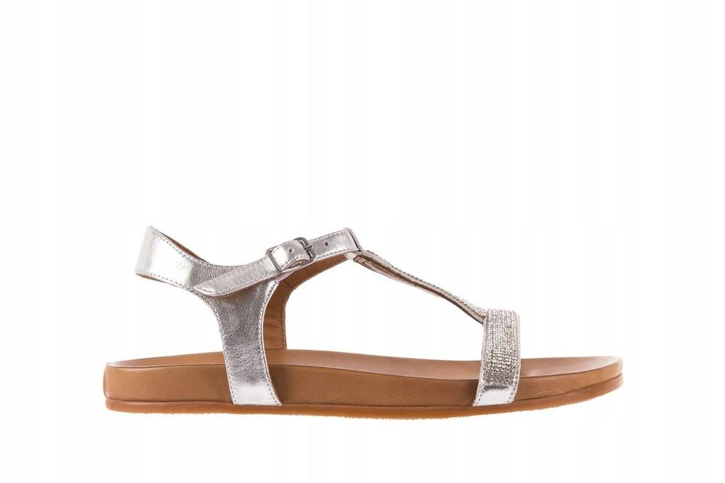 Bayla 163 17 178 Białe Skórzane Sandały Japonki 38