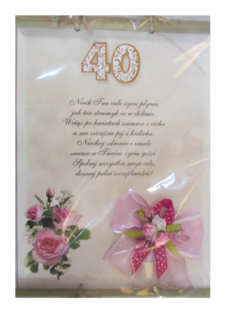 Dyplom Na 40 Urodziny życzenia Czterdziestke 7172455654