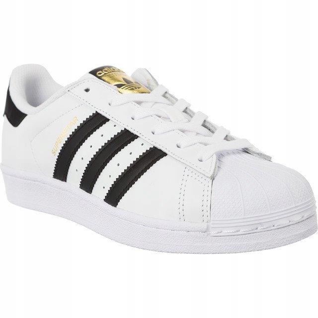 Białe Skórzane Buty Damskie Sportowe Adidas r.36