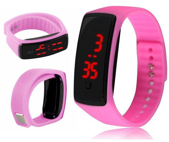 Zegarek Silikonowy Led Rozowy 7295369572 Oficjalne Archiwum Allegro