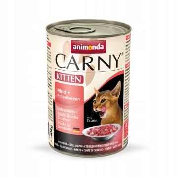 Animonda Carny Kitten wołowina i indyk 12 x 400g
