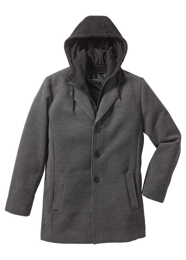 Płaszcz Slim fit szary 46 S 910773 bonprix