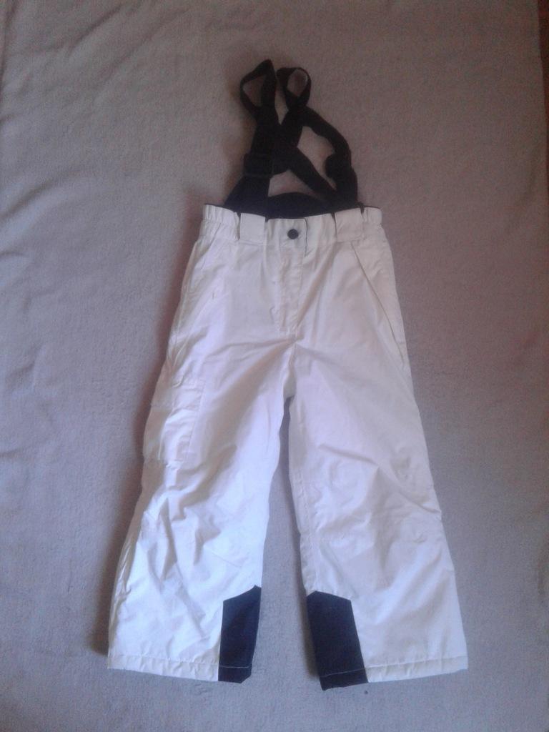 spodnie narciarskie dziecięce białe 98104